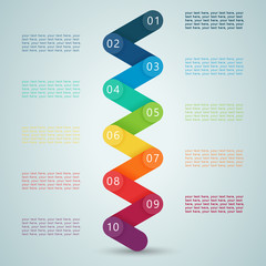 Number Steps 3d Infographic 1 to 10 D