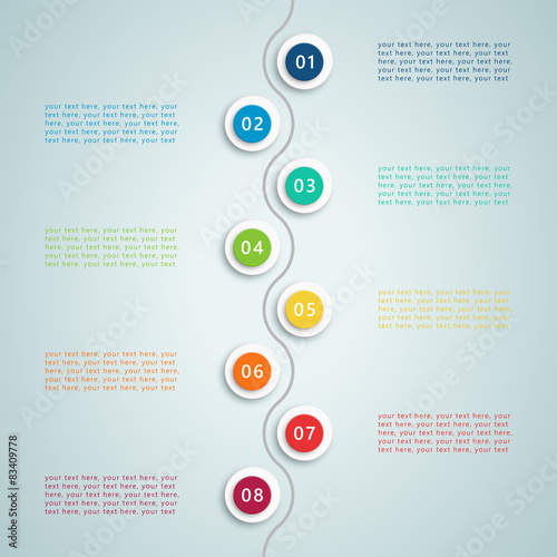 Tuinposter Abstract bloemen Number Steps Infographic 5