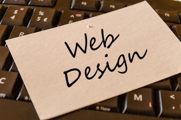 Web Design concept on keyboard
