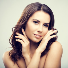 Portrait of attractive young brunette woman