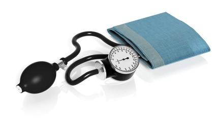 Sphygmomanometer isolated on white background