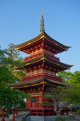 板橋不動尊 三重塔 (茨城県・つくばみらい市)