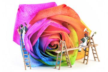 miniature painters color multicolor rose