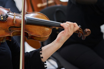 Women Violinist Playing Classical Violin