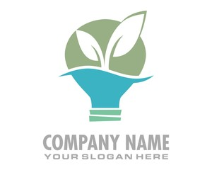 sprout plant bulb lamp logo image vector