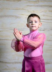 Boy Dancer Posing with Hands Together