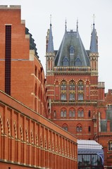 St Pancras Station London from rear