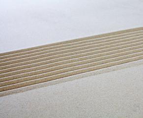 sable lignes parallèles