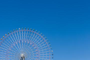 Big wheel with blue sky with blue sky