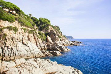 Beautiful rocks near LLoret de Mar, Spain