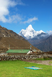Ama Dablam seen from Khumjung village, Nepal