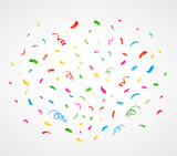 Fototapety Colorful confetti background. Vector