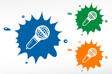 Microphone - vector. Color blob