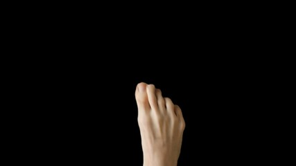 Touch Screen Finger Gesture by Leg