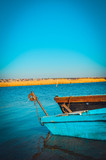 Fototapeta Czubek turkusowej łodzi