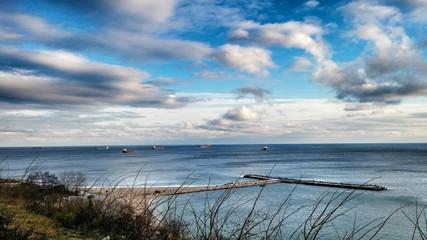 Unreal beauty of the sea landscape