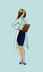 Attractive woman.vector illustration.