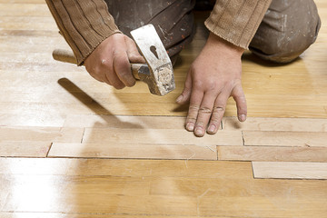 Assembling Wooden Floor