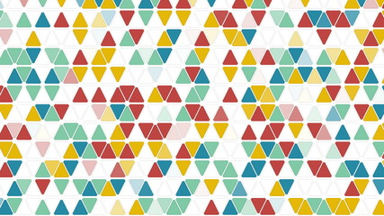 colorful triangles seamless loop geometric background 4k