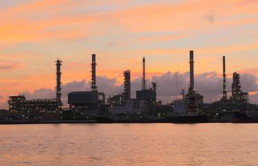 Oil refineries in Thailand.