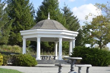 Wedding gazebo in the park
