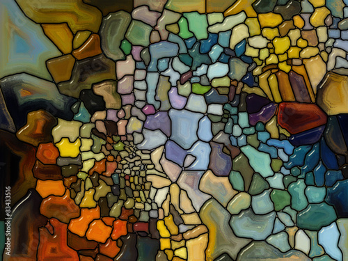 Foto Spatwand Glas In Lood Energy of Stained Glass