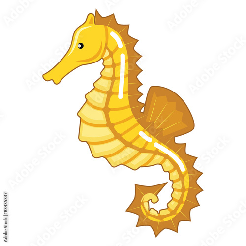 Poster Pony Cool Yellow Seahorse