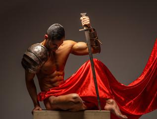 Muscular Rome warrior