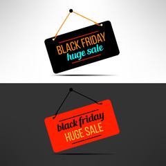 Vector black friday sale promotional banner. Retail discount