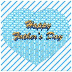 happy father's day greeting with heart