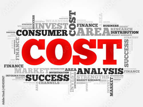 Cost word cloud, business concept © dizain