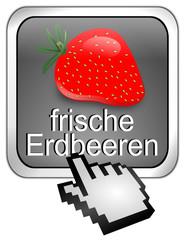 frische Erdbeeren Button
