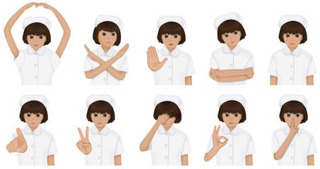 看護師のセット 白衣