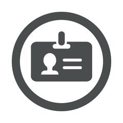 Icono redondo identificacion gris