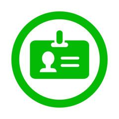 Icono redondo identificacion verde