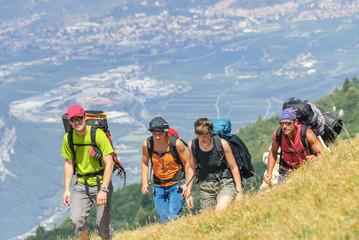 Wandergruppe am Monte Baldo