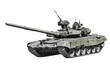 Постер, плакат: Main Battle Tank Russia isolated