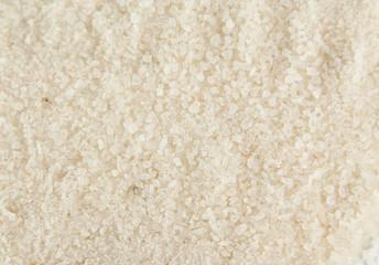 White sea salt background