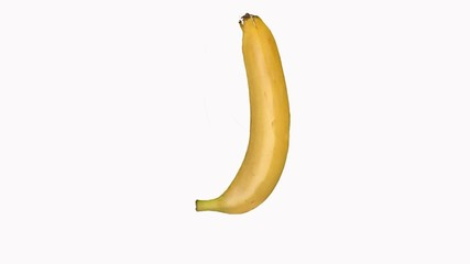 Building a banana on white background