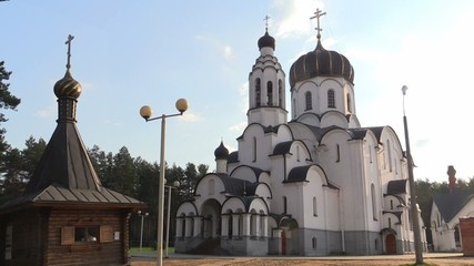 Belarus, Great Stiklevo, April 2015. The Church Of The Nativity.