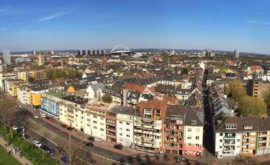 Luftaufnahme von Köln rechtsrheinisch