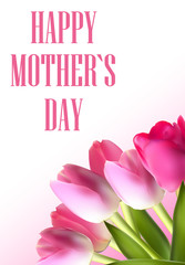 Happy Mother`s Day Poster Card Vector Illustration