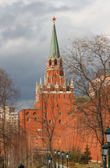 View of the Trinity Tower of the Moscow Kremlin