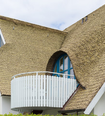 Dachgaube mit Schilf gedeckt