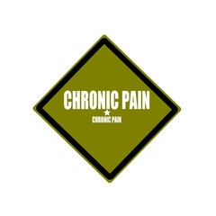 Chronic Pain white stamp text on green background