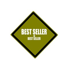 Best seller white stamp text on green background