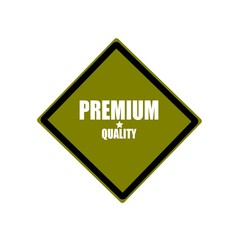 Premium quality  white stamp text on green background