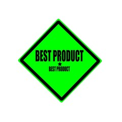 Best product black stamp text on green background