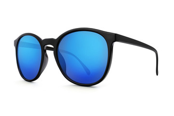 sunglasses isolated on white background in various colors