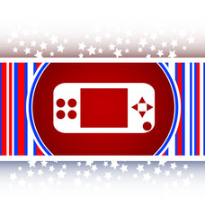 game controller web icon, button isolated on white vector